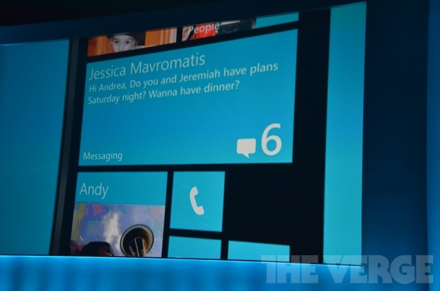 Gallery Photo: Windows Phone 8 new start screen