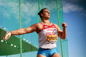 Sandra Perkovic will be one of 107 Croatian athletes at the Games, where she will compete in the discus. She won gold at the 2012 European Championships. (Photo by Alexander Hassenstein/Bongarts/Getty Images)