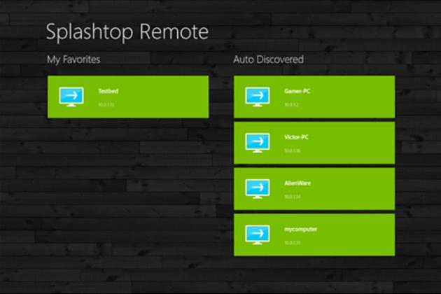 Splashtop Remote Desktop windows 8