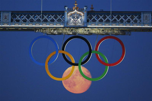 moon olympic rings