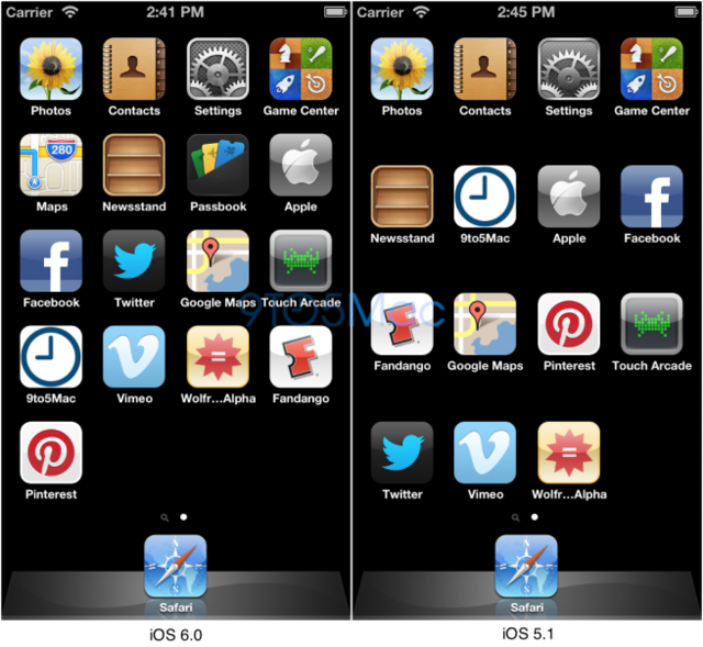 ios6 extra row (9to5mac)