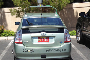 Google self-driving car in Nevada