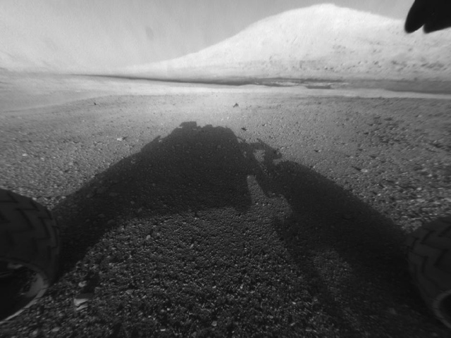 Curiosity Rover B&amp;W Shadow