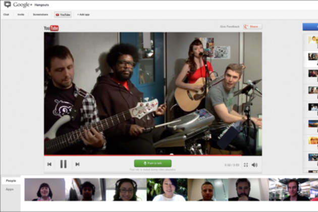 YouTube party Google+ Hangout