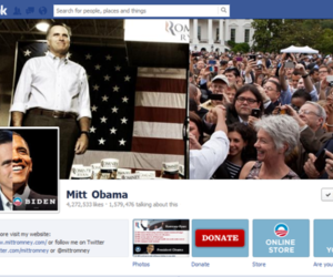 Obama Romney Facebook