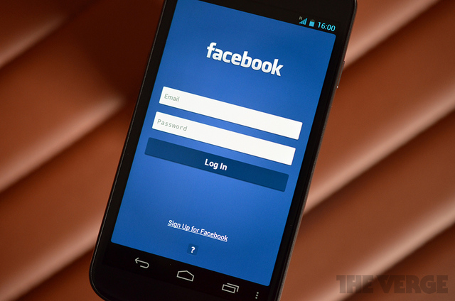 New Facebook Upload Photos Facebook Android Login Screen