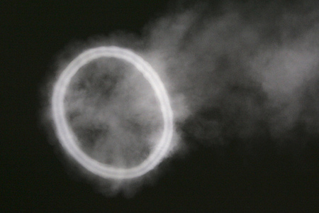PISCATAWAY, NJ - SEPTEMBER 1: A smoke ring appears in the sky after a cannon was fired to celebrate a touchdown by Rutgers Scarlet Knights against North Carolina Central during a college football game on September 1, 2011 at High Point Solutions Stadium in Piscataway, New Jersey. (Photo by Rich Schultz/Getty Images)