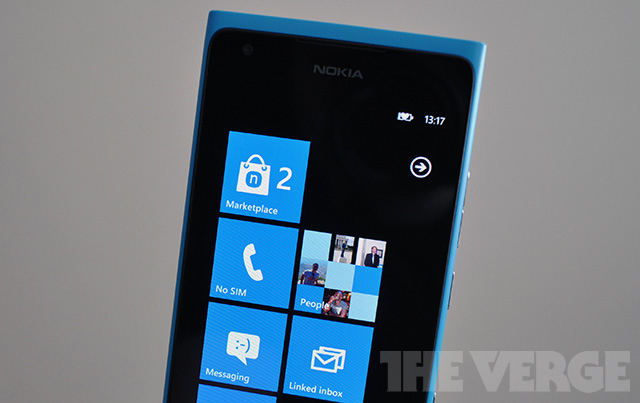 Nokia Lumia 900 marketplace branding