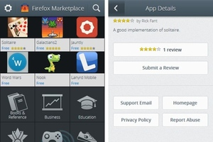 Mozilla Firefox OS Marketplace leaked image