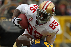 Vernon Davis had a big game against the Packers two years ago.