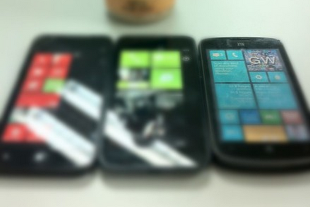 ZTE Windows Phone 8 handsets (Dennis Lui/Sina Weibo)