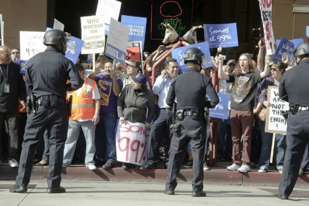 occupy wall street protesters police