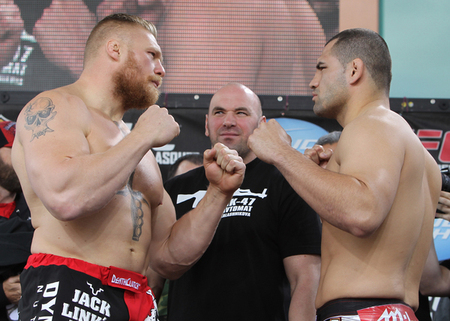 Lesnar and Velasquez face off