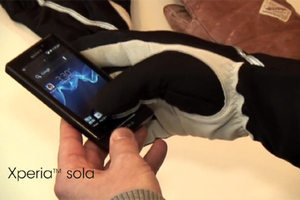 sony xperia sola glove mode ics