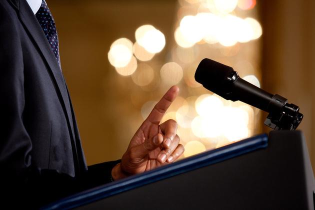 President podium