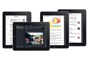 The New York Times iPad web app