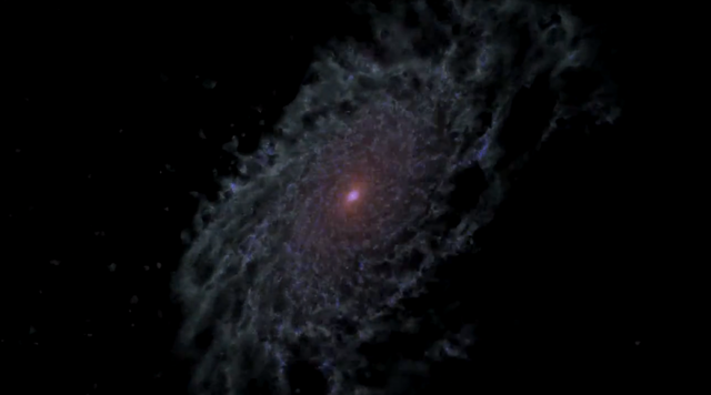 NASA galaxy simulation