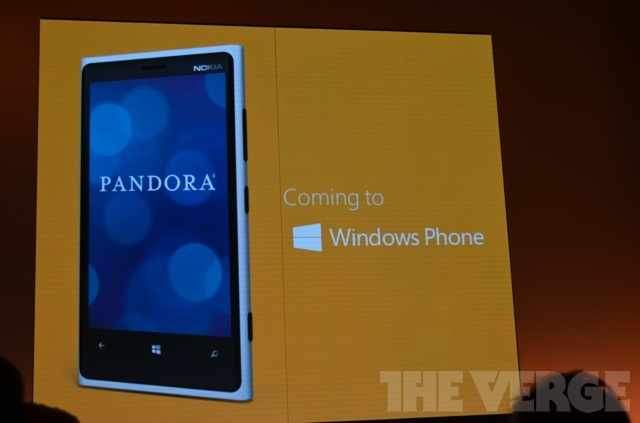 Windows Phone 8 Pandora