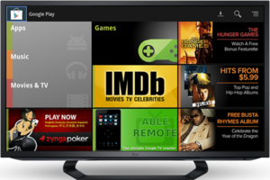 Google TV Google Play stock press