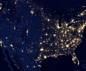 US from space at night