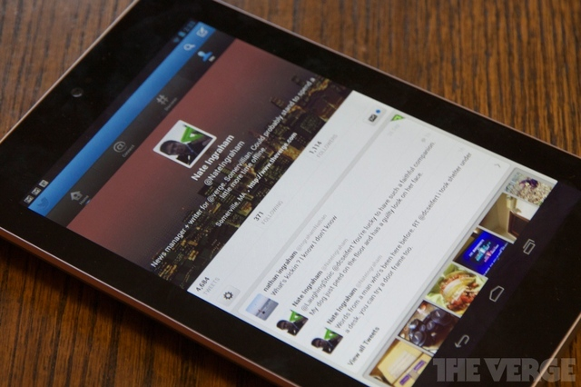 Twitter user profile nexus 7