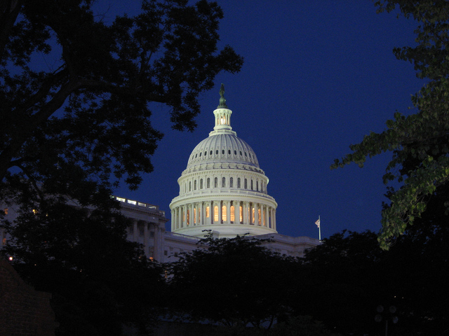 Capitol at Night [by Robero Ceballos via Flickr]