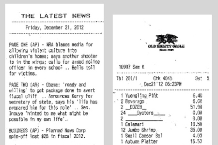 print signal news receipt