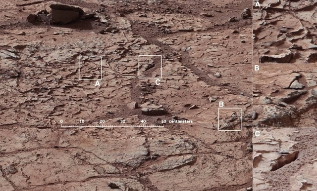 Mars Curiosity drilling site