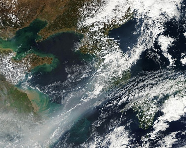China smog NASA Wikimedia commons
