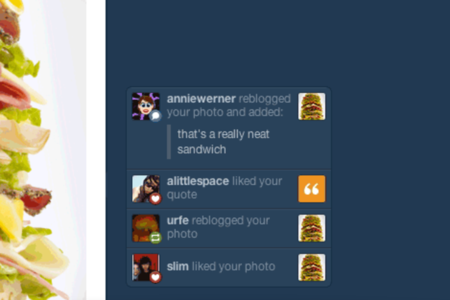 Tumblr notification ticker