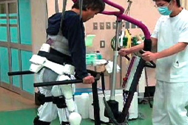 Rehabilitation robot suit to