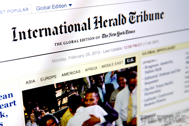The International Herald Tribune