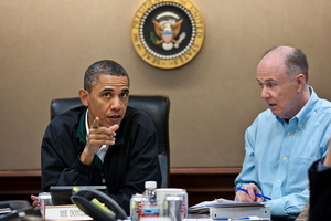 President Obama and national security advisor Tom Donilon