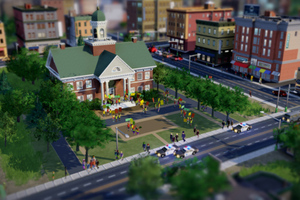 SimCity City Hall Protest