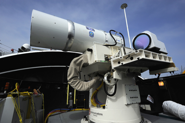 Navy destroys drone with laser weapon en route to 2014 deployment