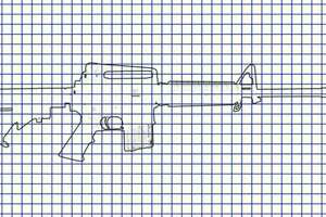 AR-15 sketch