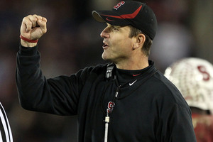 Reports indicate that Jim Harbaugh is at the top of Miami&#39;s wish list.