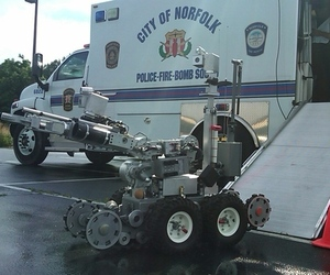 Bomb disposal robot Norfolk Virginia PD
