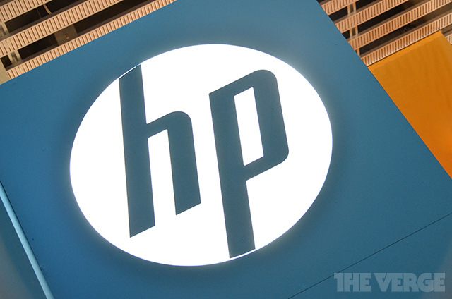 HP logo stock