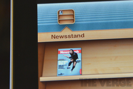 iOS Newsstand with Newsweek