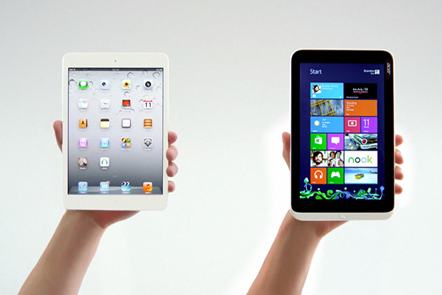 Acer W3 vs iPad mini