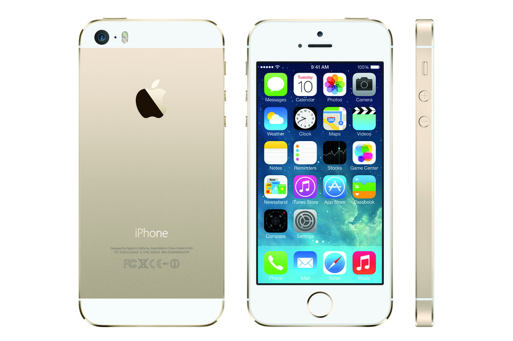 gold iphone 5s press