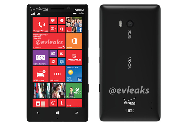Lumia 929 rear (evleaks)
