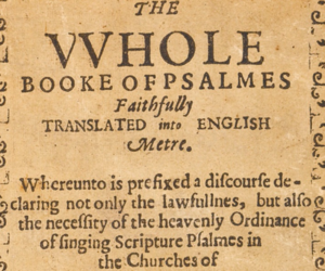 Bay Psalm book
