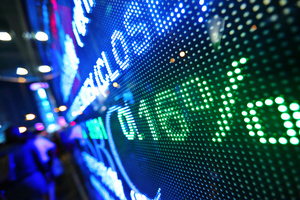stock market ticker (shutterstock)