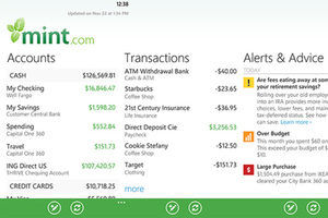 Mint Windows Phone app
