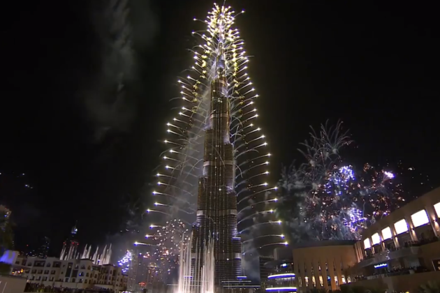 Dubai rings in the new year