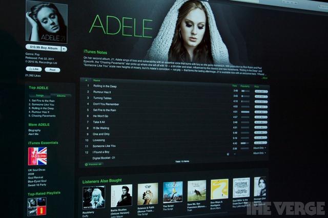Adele iTunes store