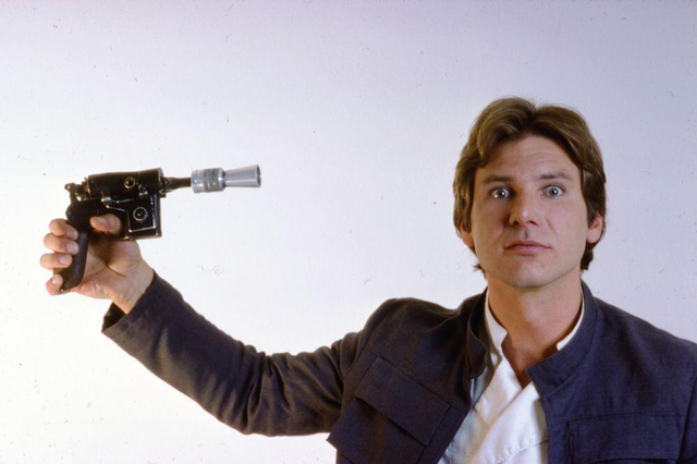 peter mayhew photo of harrison ford han solo