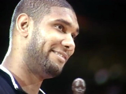 tim duncan family. Tim Duncan#39;s smile when he won